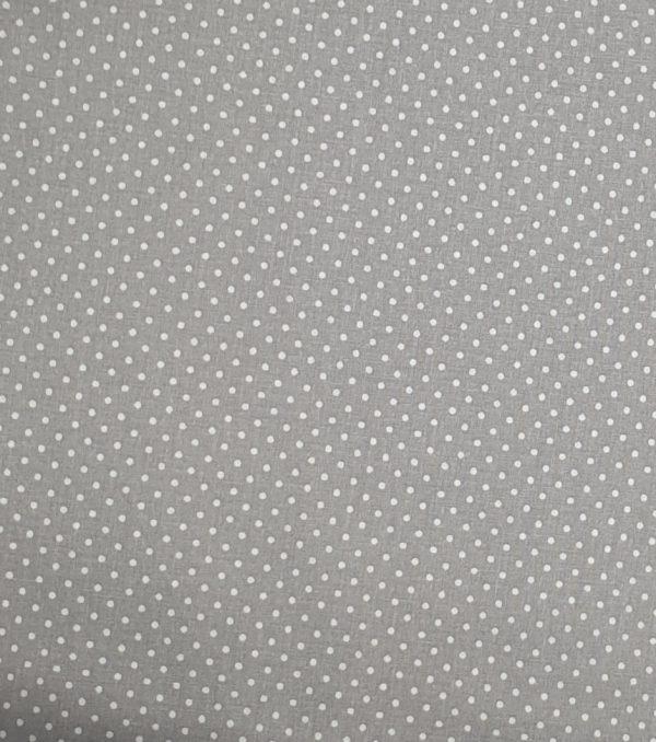 Mini pois bianchi fondo grigio