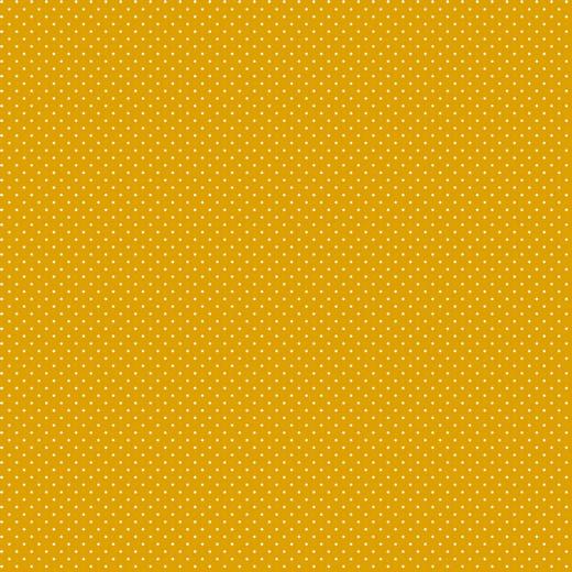 Mini pois bianchi fondo giallo