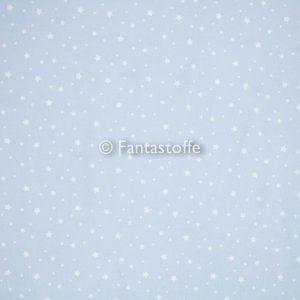 Mini stelle bianche fondo baby blue