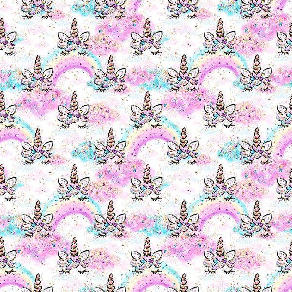 Felpa leggera unicorni glitter