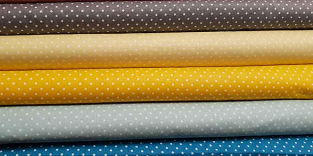 pois di vari colori Tessuti certificati