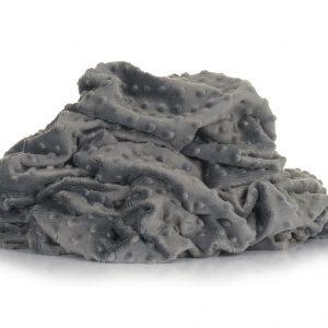 Minky grigio scuro pois