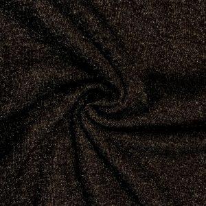 Felpa pesante lurex nero/argento