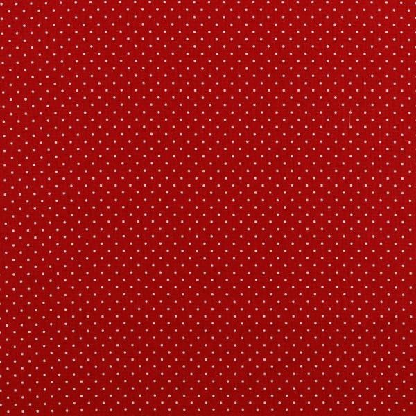 Mini pois bianchi fondo rosso