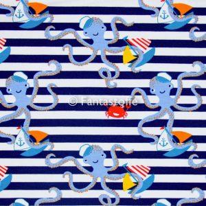 Felpa polipi righe blu