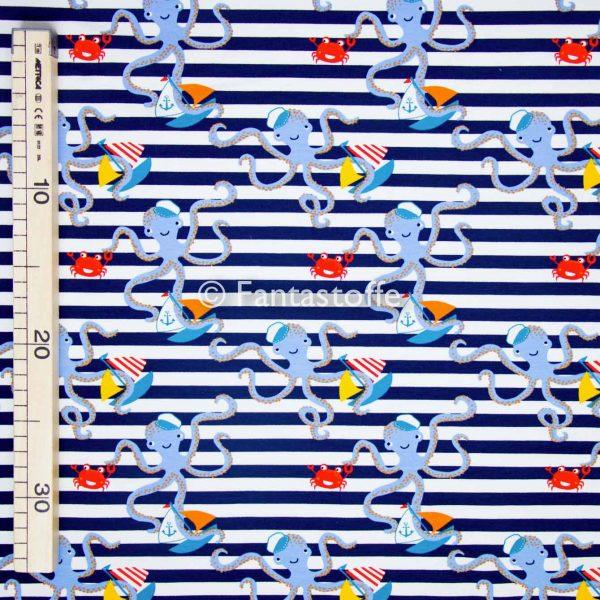 Felpa polipi righe blu 10cm