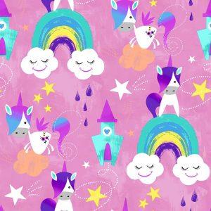 Jersey Fantasia unicorni rosa