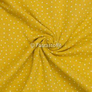 Mussola pois giallo ocra