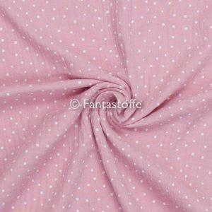 Mussola pois rosa