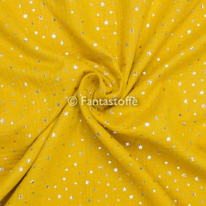 Mussola giallo ocra/argento