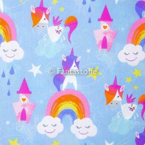 Fantasia unicorni azzurri