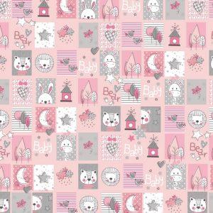 Animali patchwork rosa