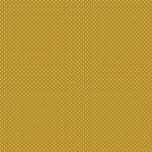 Mini pois bianchi fondo giallo ocra