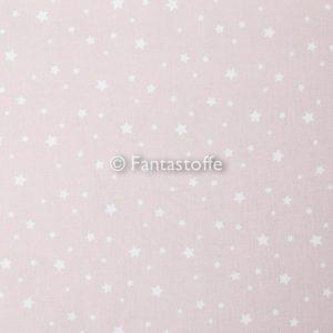 Mini stelle bianche fondo rosa