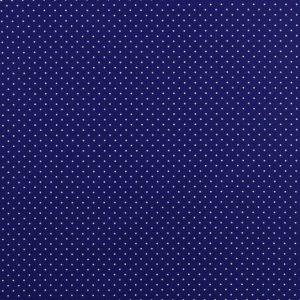 Mini pois bianchi fondo blu cobalto