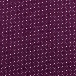Mini pois bianchi fondo violetto