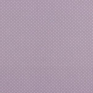 Mini pois bianchi fondo lilla