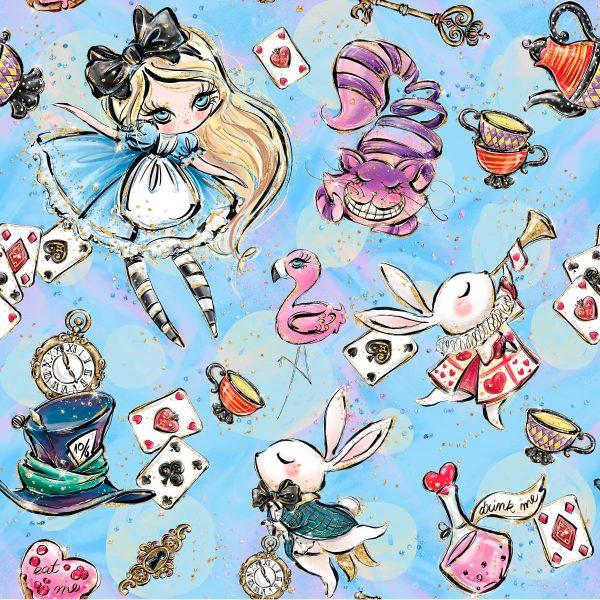 Felpa Alice blu