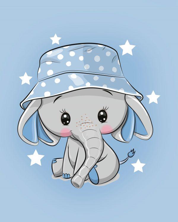 100x75 Elefantino azzurro
