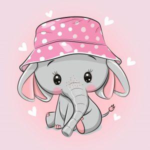 100x75 Elefantino rosa