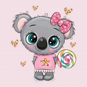 100x75 Koala glitter
