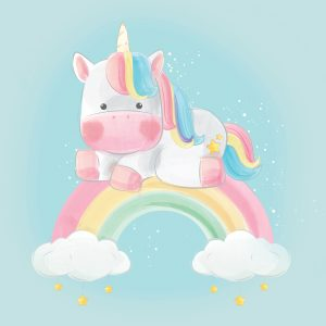 100x75 Unicorno arcobaleno
