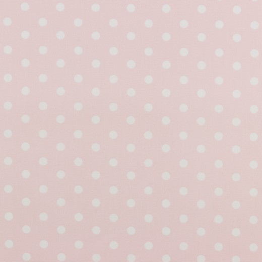 Maxi pois bianchi fondo rosa tenue