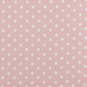 Maxi pois bianchi fondo rosa pastello