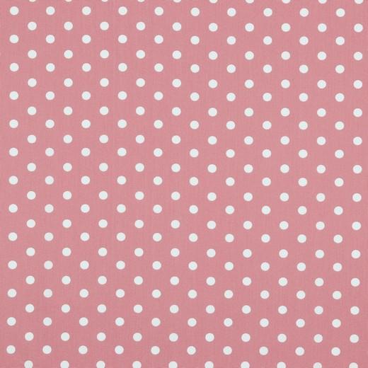 Maxi pois bianchi fondo rosa cipria