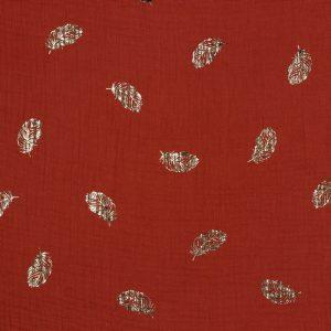 Mussola FOIL piume rosso mattone