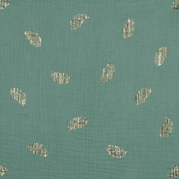Mussola FOIL piume old green