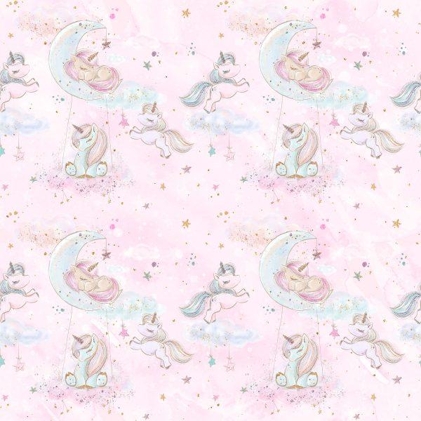 Felpa leggera unicorni cielo stellato