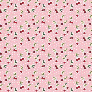 ciliegie fondo rosa