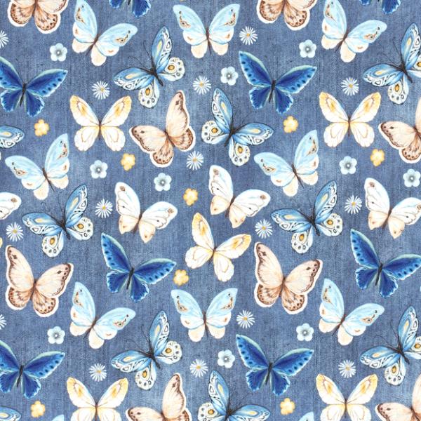Jersey farfalle blu