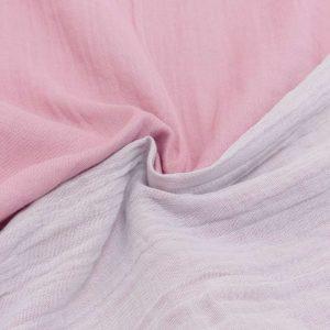 Mussola Doubleface rosa/bianco