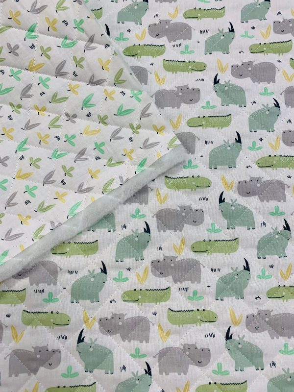 Trapunta Rhino verde/pousse verde