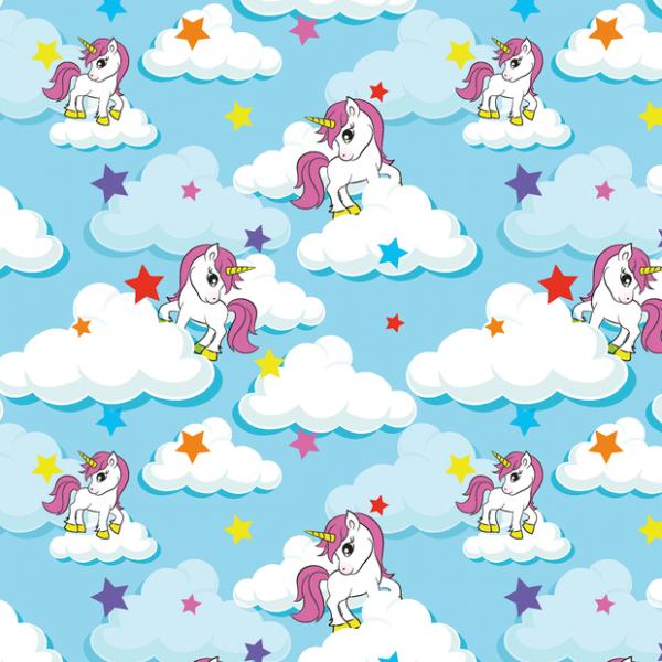 Jersey unicorni baby blue