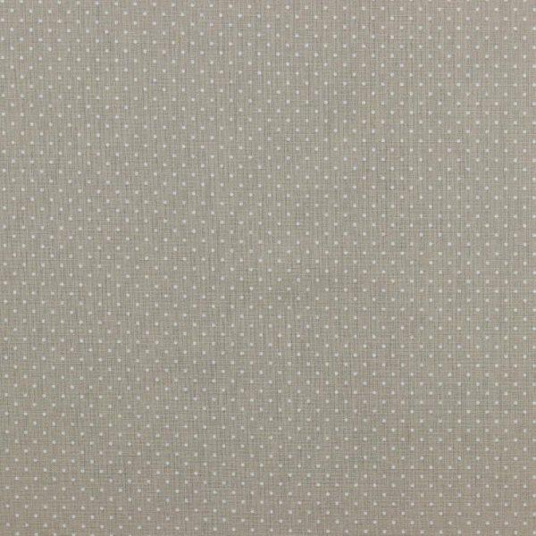 Mini pois bianchi fondo beige