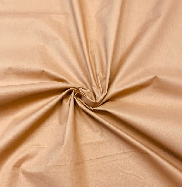 Cotone tinta unita cammello