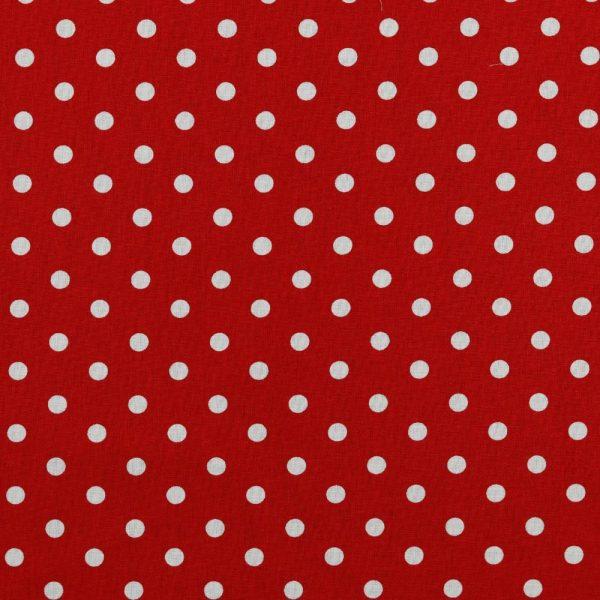 Maxi pois bianchi fondo rosso