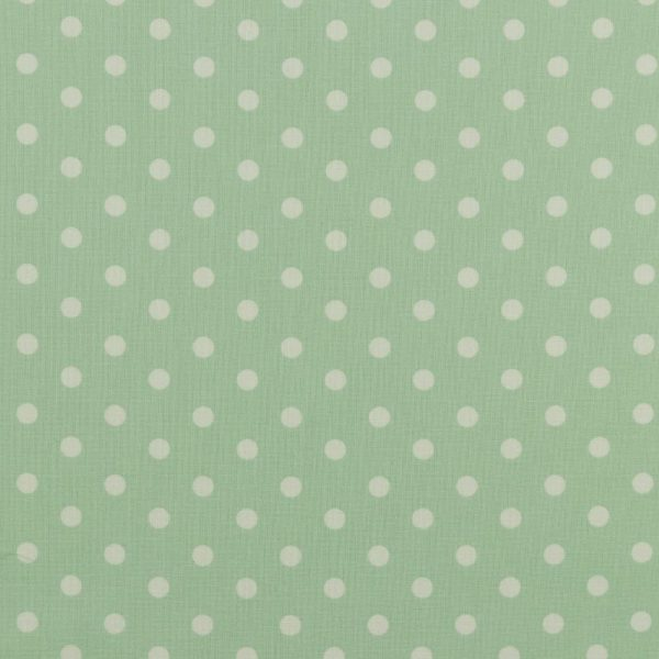 Maxi pois bianchi fondo verde menta