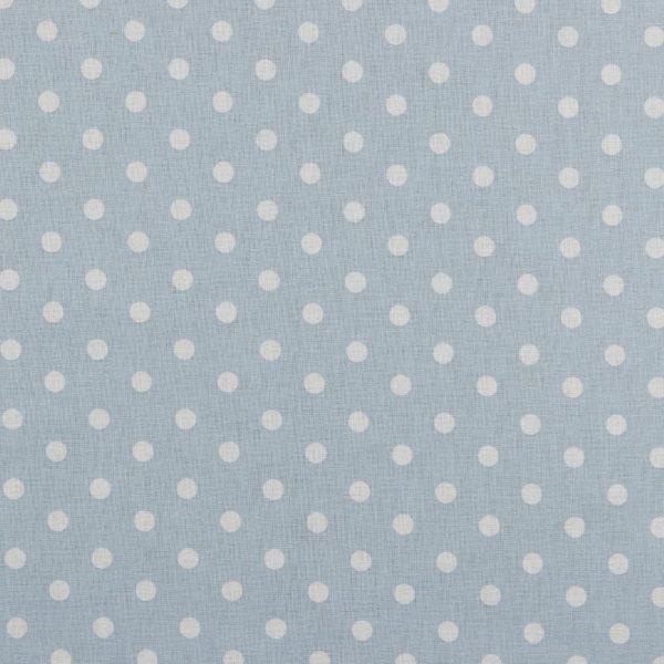 Maxi pois bianchi fondo baby blu