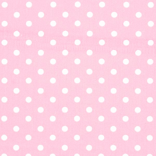 Mega pois bianchi fondo rosa baby