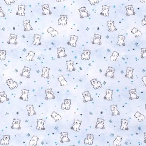 Felpa leggera orsi polari fondo baby blue