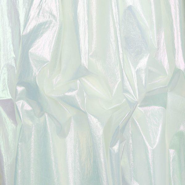 Tessuto pioggia bianco perlato