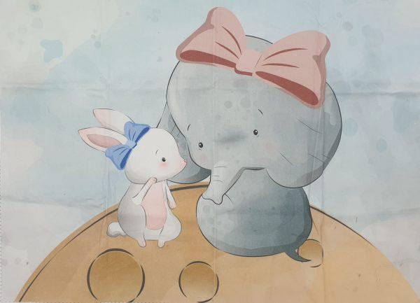 30x40 Elefante e coniglietto