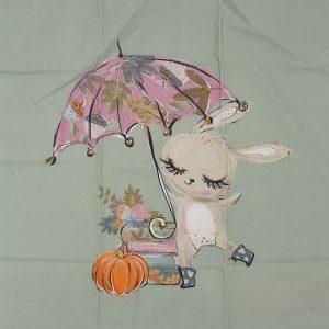 38x38 Coniglietto con ombrello
