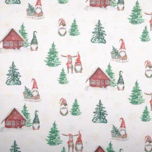 Tela di cotone Lurex Elfi - Natale