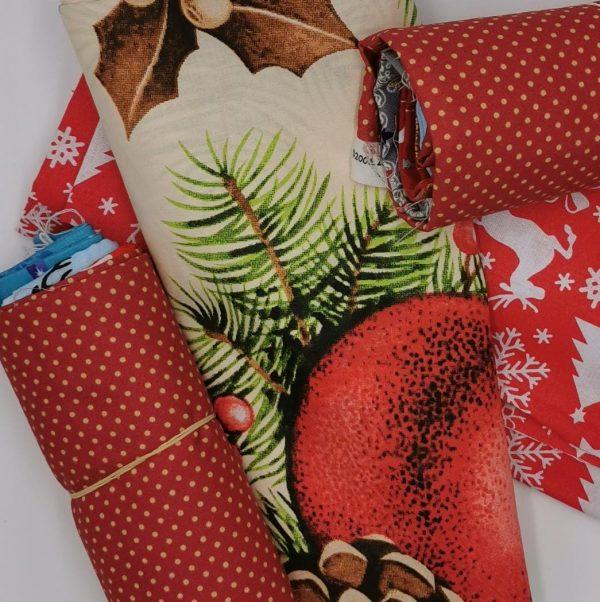 Pacchetto sorpresa cotone natalizio 1 metro (4 pre-tagliati)