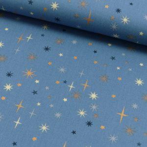 Christmas stars fondo blu - Natale